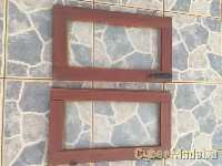 2 small glass windows